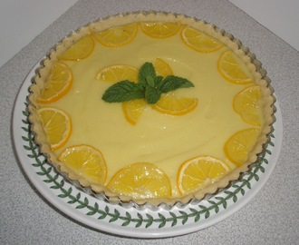 Lemon White Chocolate Tart