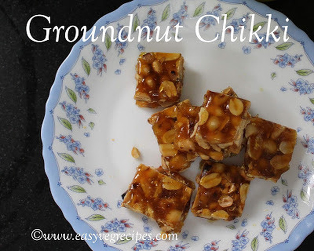 Groundnut Chikki Recipe -- How to make Groundnut Chikki