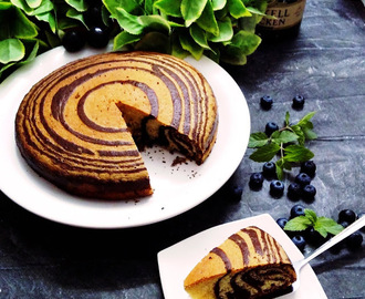 CHOCOLATE AND VANILLA ZEBRA CAKE