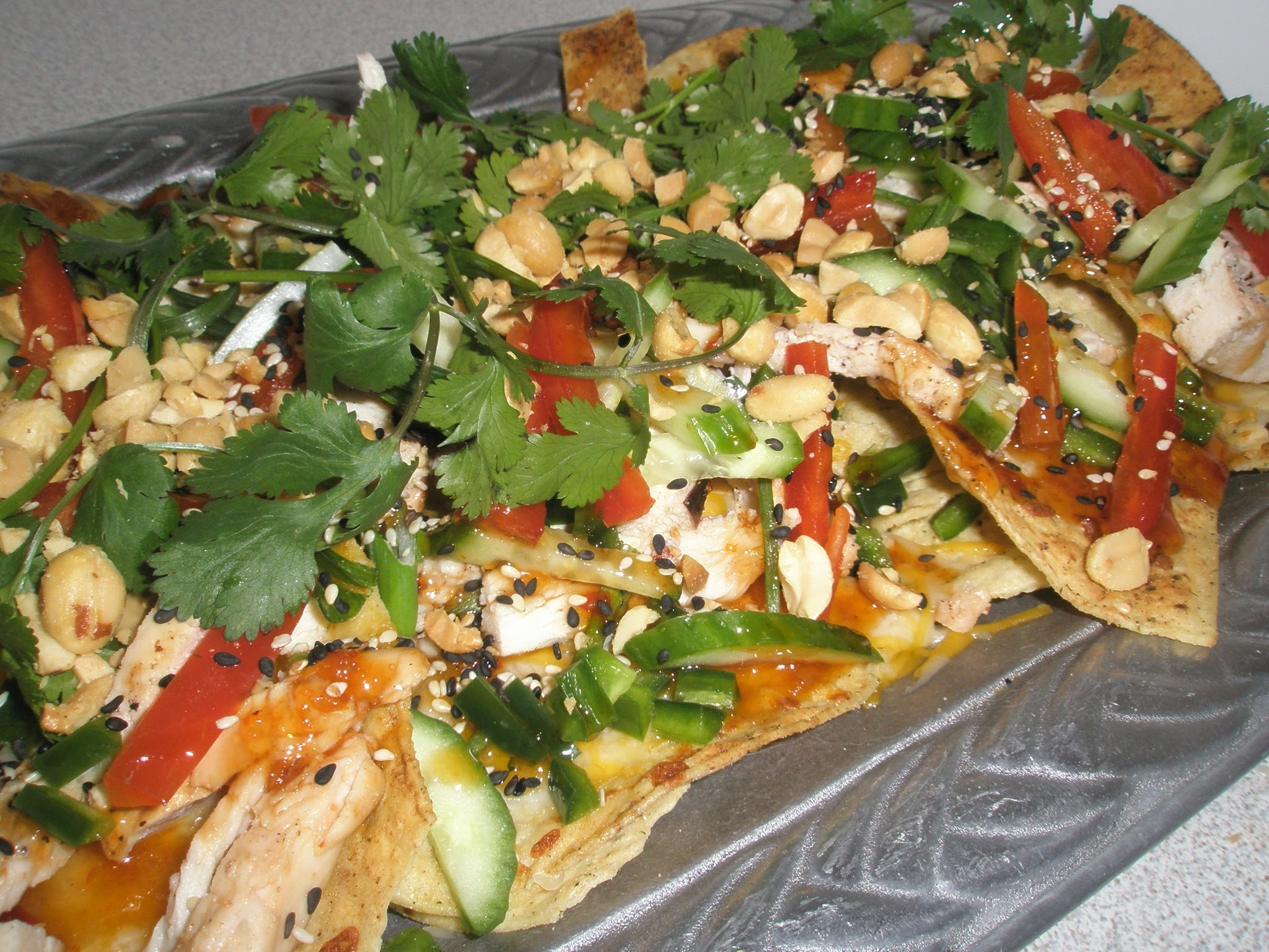 Thai Chicken Nachos