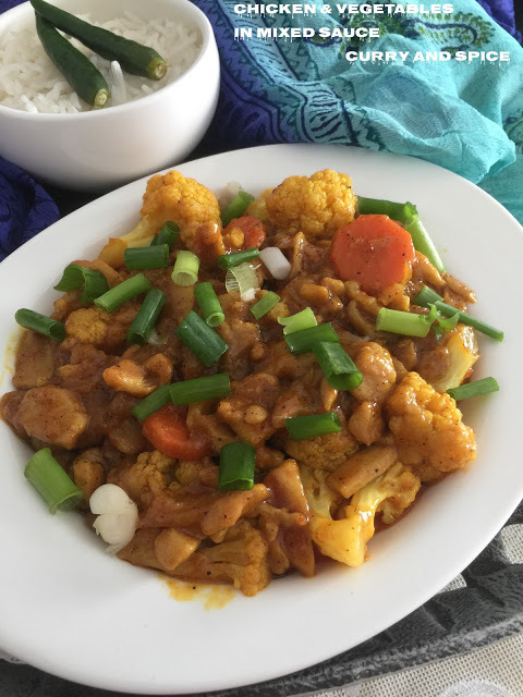 CHICKEN & VEGETABLES IN MIXED SAUCE