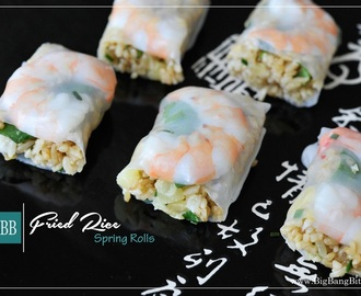 Fried Rice Spring Rolls
