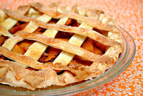 Peach Almond Lattice Pie
