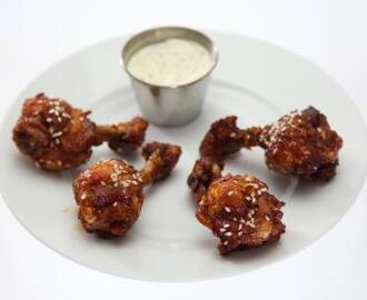 Mongolian Kickin' Wings with Creamy Wasabi Dipping Sauce