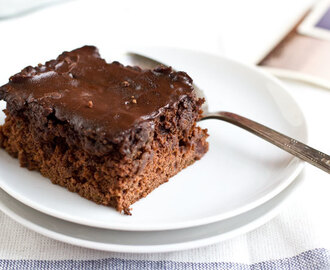Chocolate zucchini cake (no butter)