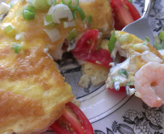 Shrimp and Cream Cheese Omelette