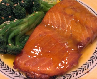 Wasabi Salmon with Orange Glaze