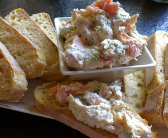Smoked Salmon Spread with Capers, Lemon & Green Onion
