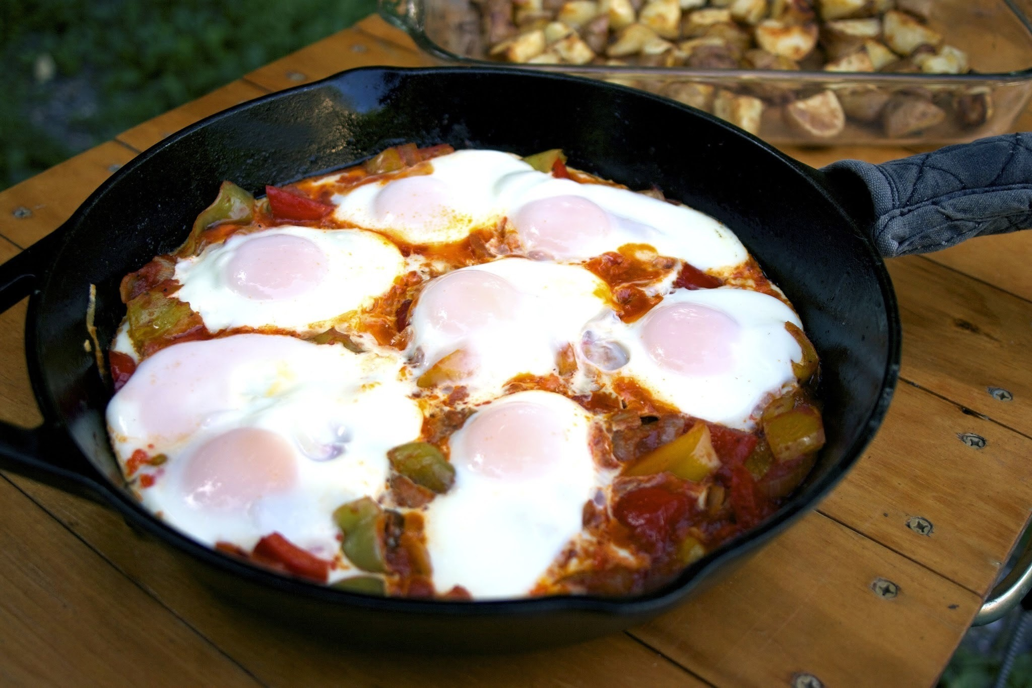 Peppers & Eggs Skillet Casserole: Sofrito con Huevo #Foodie Friday