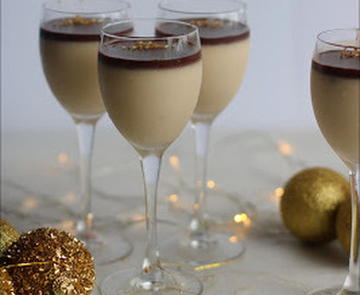 New Year's Hazelnut Panna Cotta with Nutella Ganache