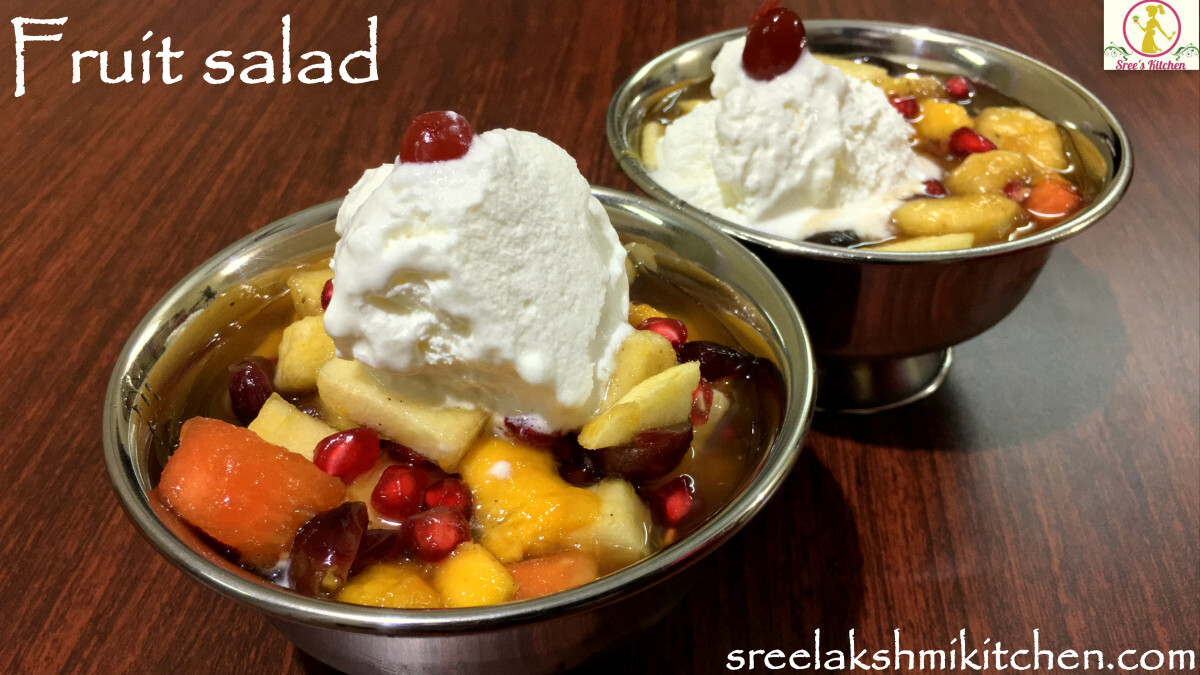 Fresh fruit salad recipe | tasty fruit salad recipe | Sreelakshmikitchen