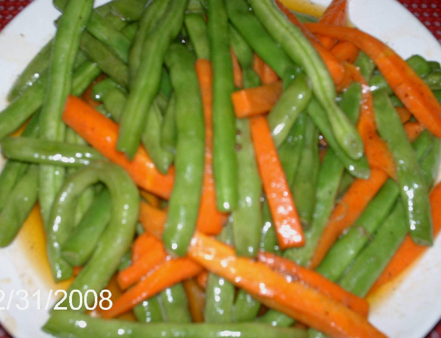 How to cook buttered beans and carrots?