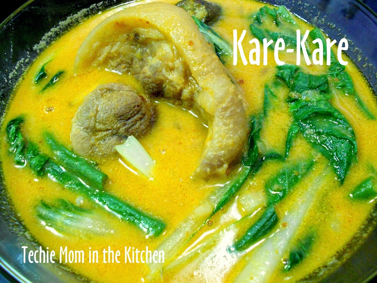 PATA KARE-KARE ala Barrio Fiesta  - Easy Version  (Pork Leg  Stew in Savory Peanut Sauce)