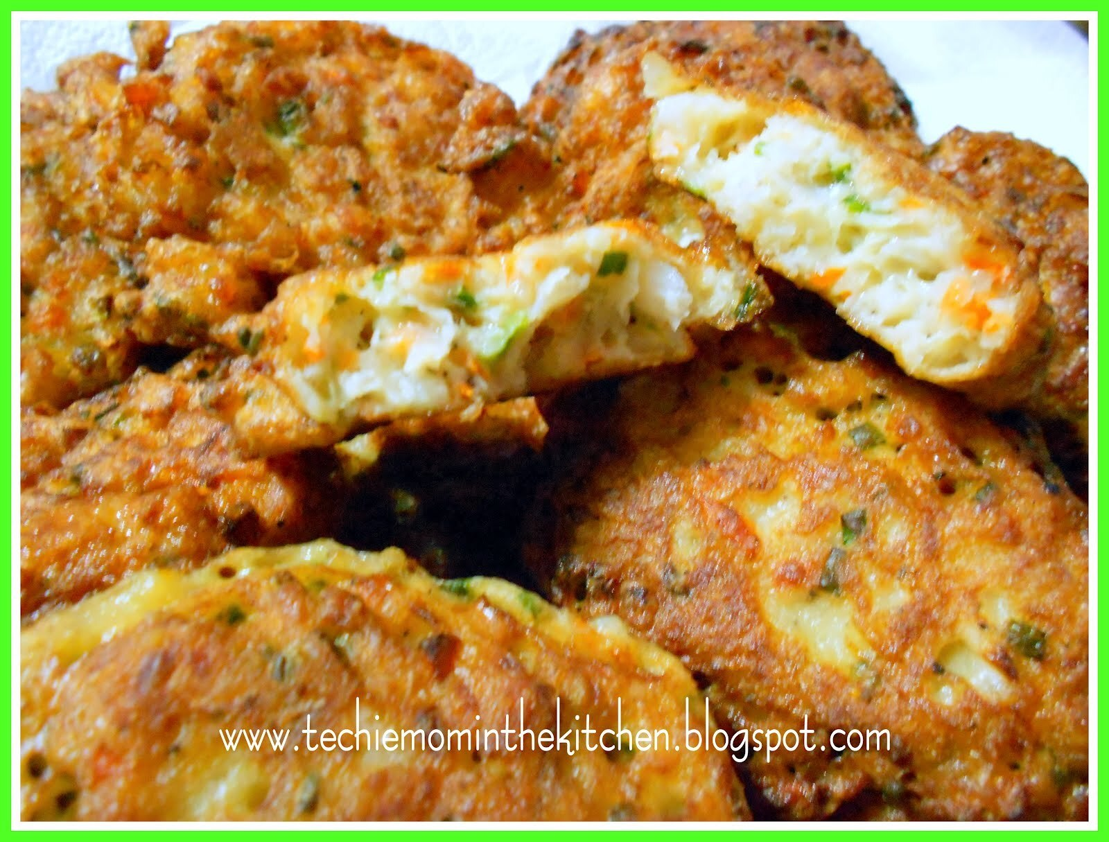 CREAM DORY FISH PATTIES with GARLIC-MAYO DIP