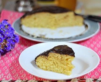 One bowl vanilla cake with chocolate ganache frosting - Easy cake recipes