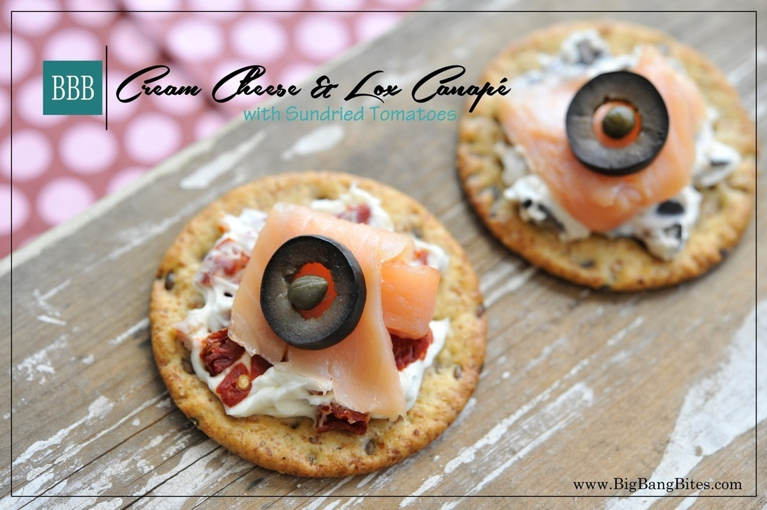 Cream Cheese & Lox Canapé with Sundried Tomatoes