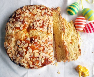 Mazanec / Czech sweet yeast Easter bread