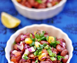 Purple Cabbage & Kidney Beans Salad in French Dressing | Salad Recipe