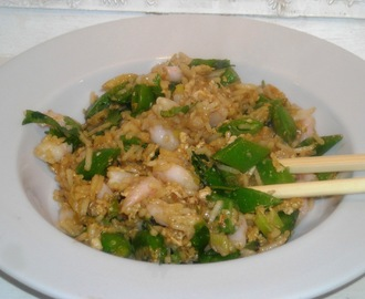 Fried Rice med Rejer og Grønsager