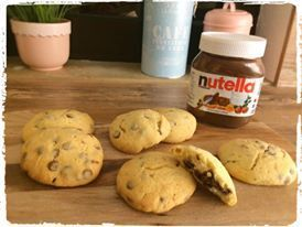 Nutella Chocolate Chips Cookies