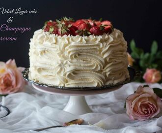 White Velvet Layer Cake with Pink Champagne Buttercream