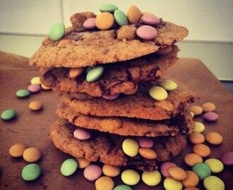 Chocolate chip cookies med choklad konfetti