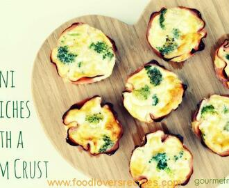 MINI QUICHES WITH A HAM CRUST