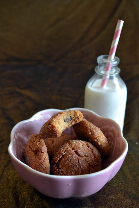 Peanut butter cookies with a Valentine's Day twist