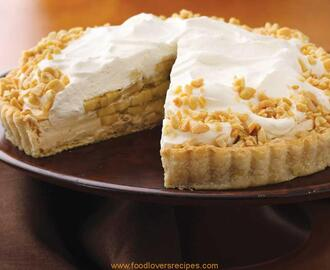BANANA AND PEANUT BUTTER CREAM PIE RECIPE