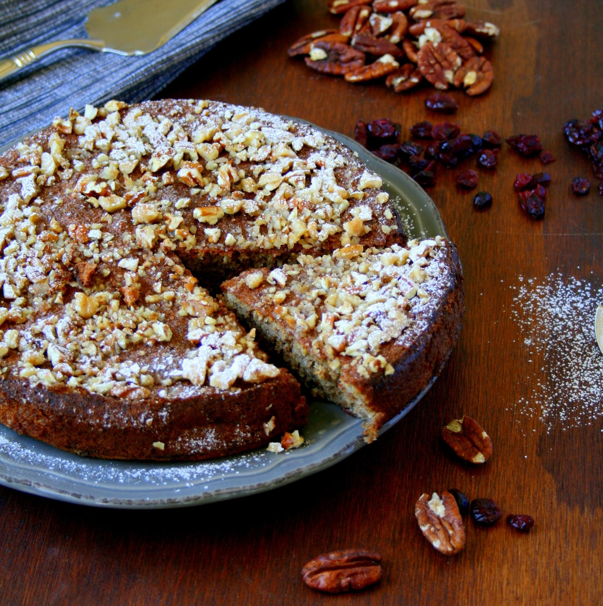 Walnut, Pecan & Cranberry Cake