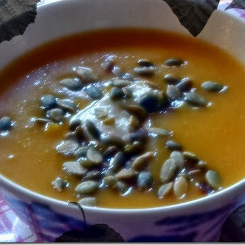 [Fall into autumn] Roasted Butternut Squash & Apple Soup