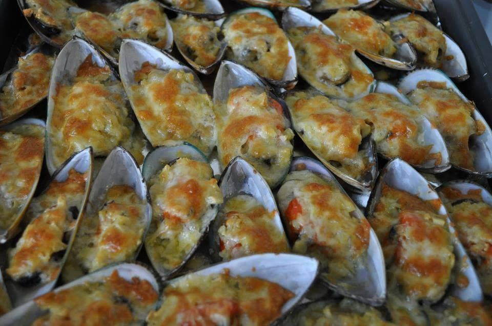 Freshly Baked Mussels