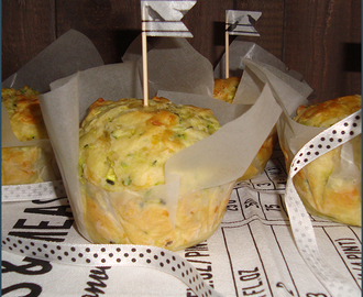 Baby marrow and cheddar muffins