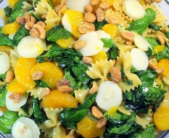 Orange-Teriyaki Spinach Pasta Salad - 52 Church PotLuck Salads