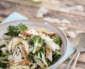 bitsofcarey wrote a new post, Lemony Fusilli with Chicken, Roasted Broccoli & Parmesan, on the site Bits of Carey