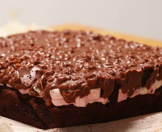 Brownies con marshmallow