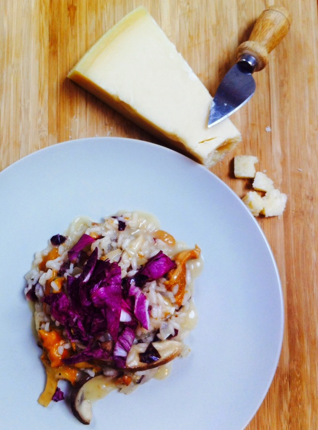 RISOTTO WITH MUSHROOMS AND RADICCHIO