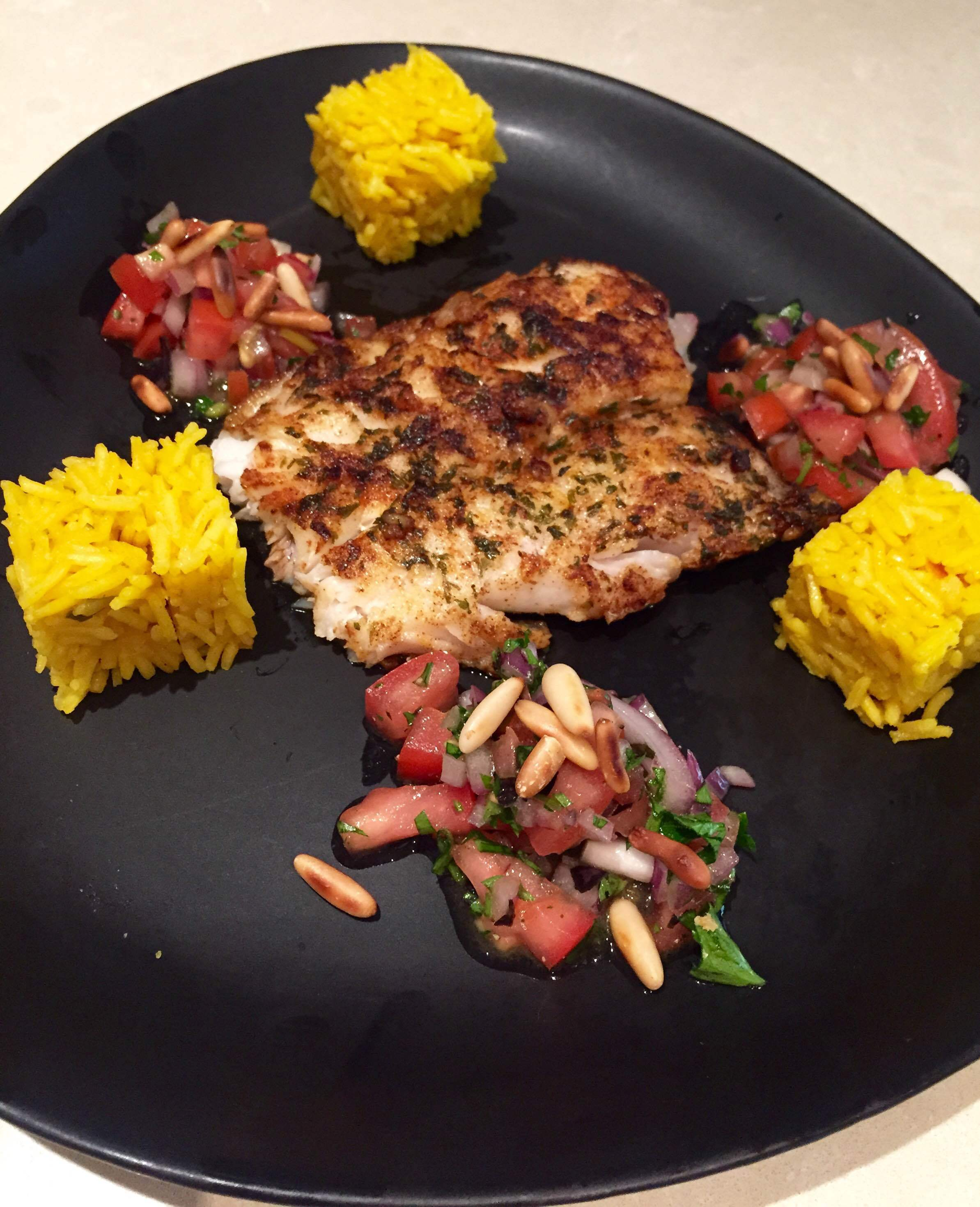 Paprika & Parsley Fish with Salsa