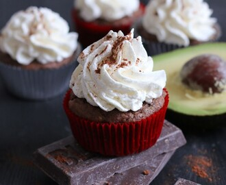 Vegan Avocado Chocolate Cupcakes with Vegan German Buttercream