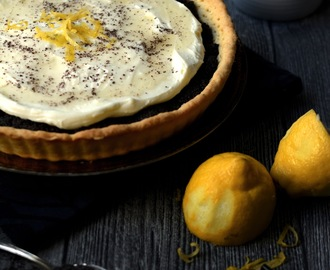 Mohn-Tarte mit Zitronencreme - Poppy Seed Tart with lemon cream