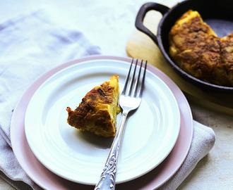 Authentic Spanish tortilla with Serrano ham