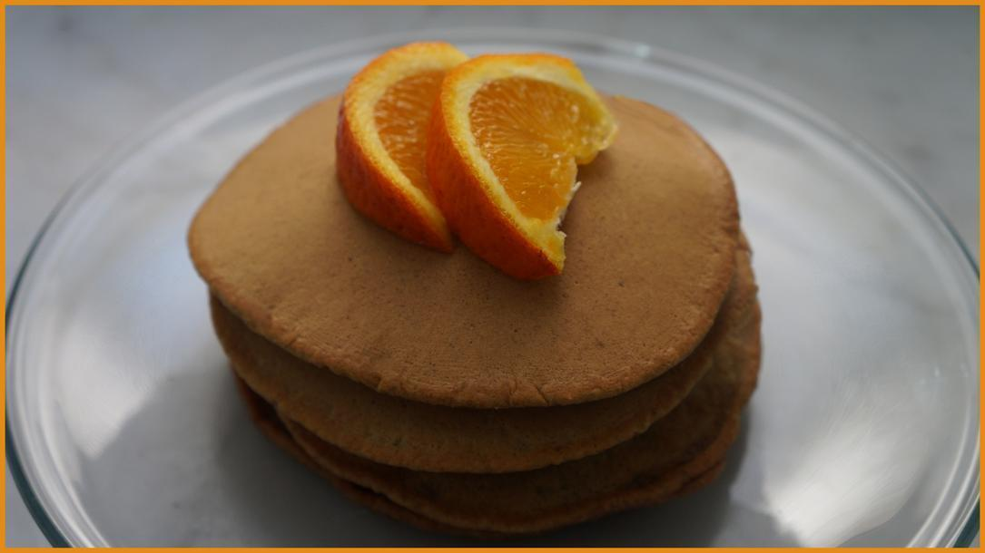 Pancake light e vegan all'acqua