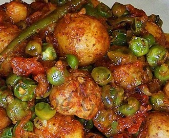 Aloo Matar Dry Version | Potato With Peas Dry