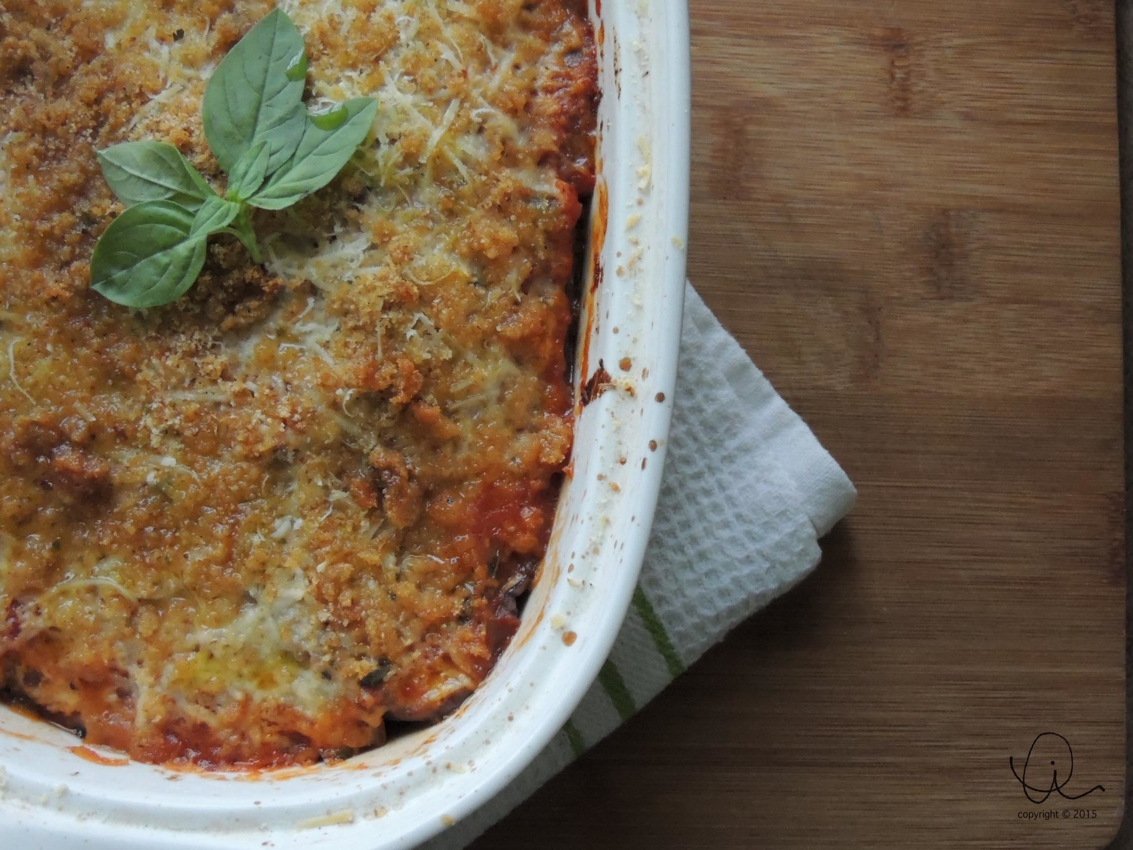 Want an easy meal in support of Meat Free Monday? Try melanzane alla parmigiana