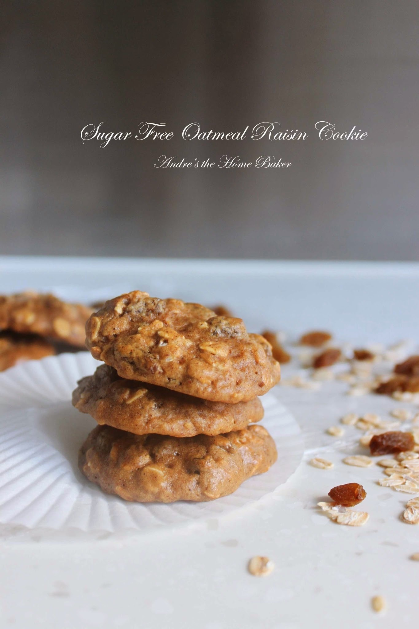 ♥ Sugar Free Oatmeal Raisin Cookies ♥