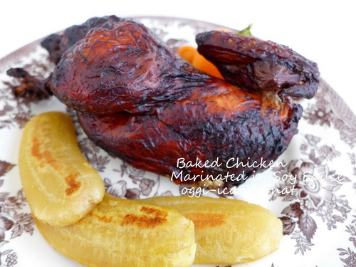 Baked Chicken Marinated in Soy Sauce
