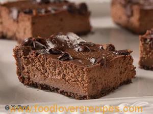 Triple Chocolate Cheesecake Squares