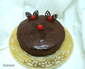 TARTA SACHER  (thermomix y fussioncook)