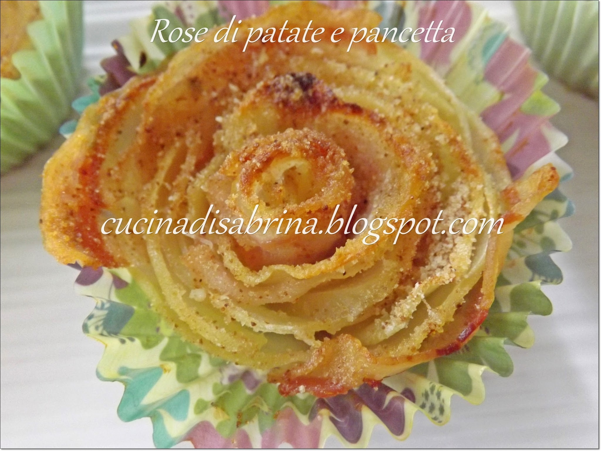Rose di patate e pancetta