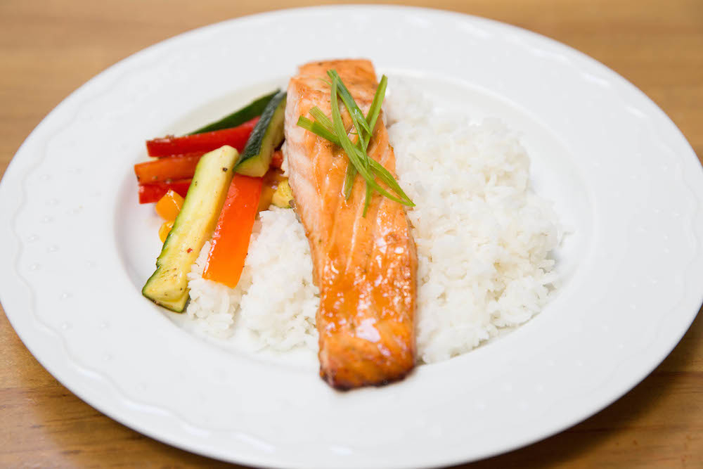 Sweet and Tangy Sriracha and Lime Baked Salmon